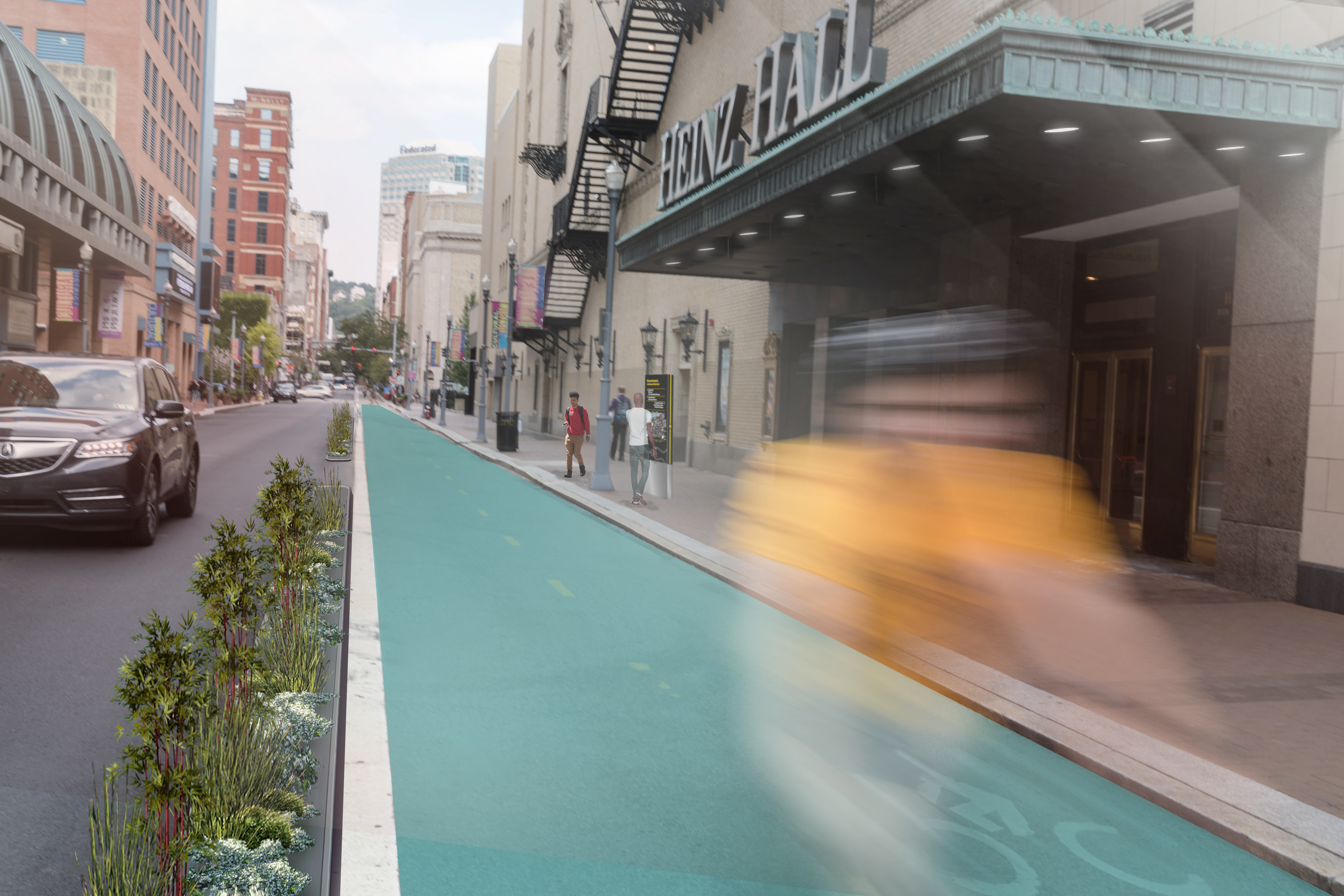 Future concept of bike lane in Downtown