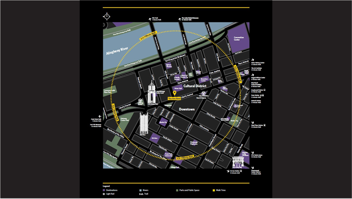 Downtown map showing ease of navigation